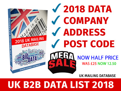 Uk Business Database 2018 B2B Marketing Quality Uk Mailing Database 2018