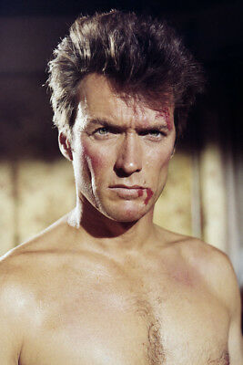 Coogan's Bluff Clint Eastwood 24X36 Poster Print Barechested Hunky