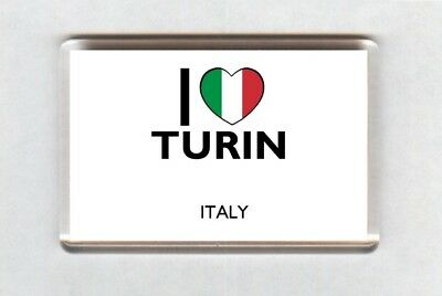 I Love Turin Fridge Magnet • Italy Gift