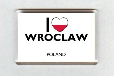 I Love Wroclaw Fridge Magnet • Poland Gift