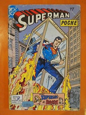 Superman poche N° 77 avec Supergirl & Superboy. éditions Sagédition