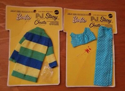 Vintage teen fashions by Mattel for Barbie clothes NOC 1969 Made in Japan MOD