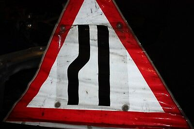 Traffic Road Signs On Tripods - Men at Work, Right Lane Ends Bundle