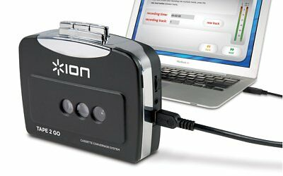 Ion Audio Tape 2 Go   Portable Analog To Mp3 Digital Cassette Converter/Player