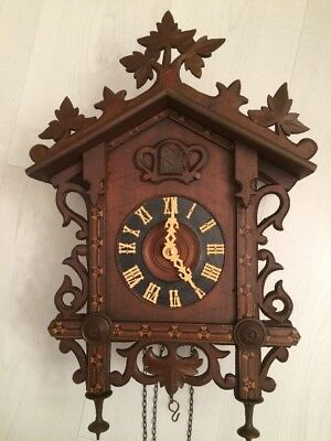 Antique, Rail Road Cuckoo Clock, Restored And Working. See&Hear Video