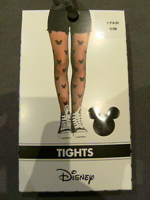 Fashion Tights Strumpfhose Disney Minnie Mickey Mouse S/M L/XL NEU