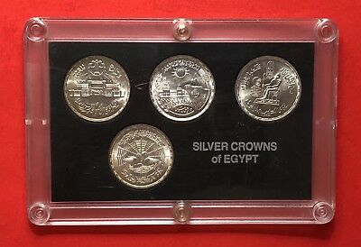 Egypt -4 Silver  Egyptian Coins (One Pound )...in High Grade Condition.