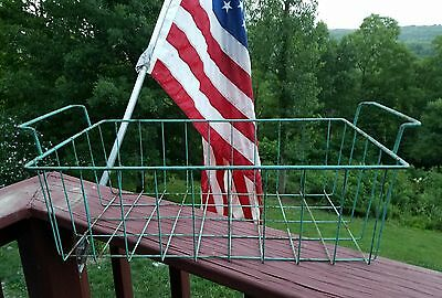 Antique Vintage Wire Basket Large Industrial Laundry Gym Home Storage Decor