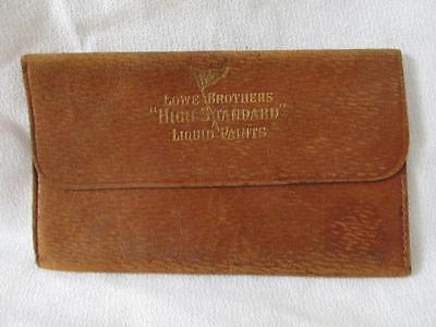 Vintage Advertising -Lowe Brothers High Standard Paints Leather Bus. Card Holder