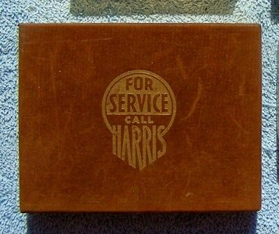 "Vtg Advertising Playing Cards 2 Deck Set ""For Service Call Harris"" - Greencastel"