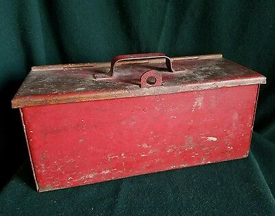 Vintage Heavy Metal Strong Lock Box Steampunk Industrial Tool - Free Shipping!