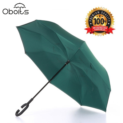 Obolts Creative Windproof Durable Double Layer Inverted Quick Dry Travel UV #34B