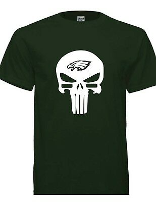 Awesome Eagles Punisher Style Football T- SHIRTS free shipping!!!!
