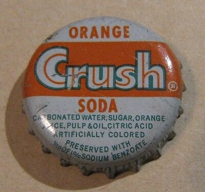 Orange Crush Soda Cork Soda Cap   Albany New York  Pepsi Cola Bot