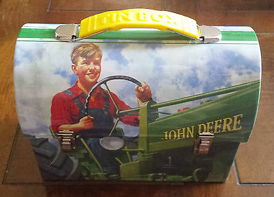 John Deere Collectible Metal Tin Box-Lunch Box-Utility Container-MOLINE, ILL