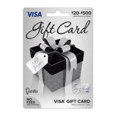 $200 (2x = $400) Visa Card - No Fees  - FREE FIRST CLASS SHIPPING