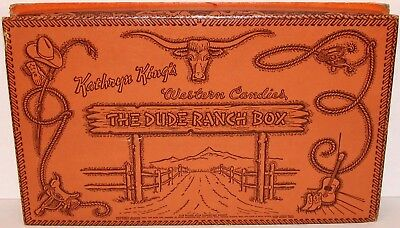 Vintage box Kathryn Kings Western Candies THE DUDE RANCH BOX Fort Worth Texas