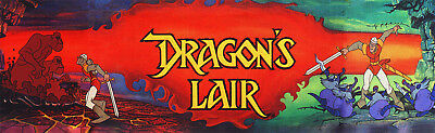 Dragon's Lair Arcade Marquee For Reproduction Header/Backlit Sign