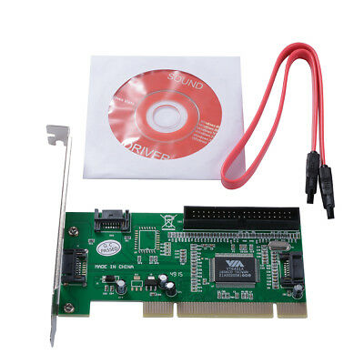 3Port SATA + IDE PCI Kontroller RAID Karte Adapter VIA6421 Chipset für HDD AC388