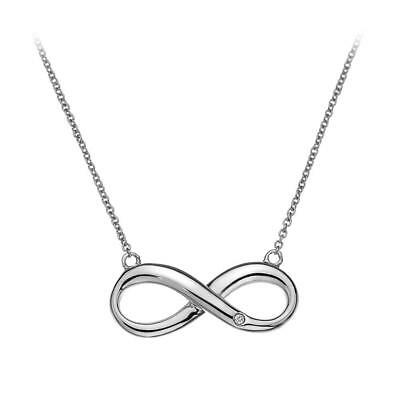 Hot Diamonds Infinity Pendant, 925 Sterling Silver and Real Diamond Necklace