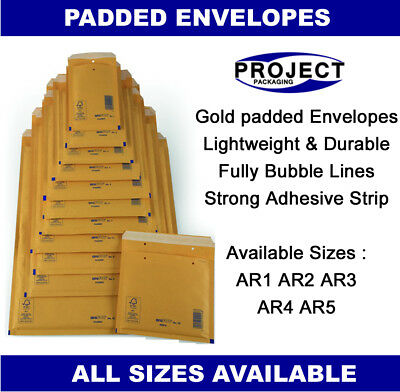 Arofol Genuine Gold Bubble Padded Envelopes Mailers Bags Fragile Ar1 A/000