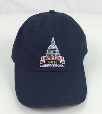 2011 US OPEN HAT Congressional Country Club Navy Blue USGA Member Golf NWOT