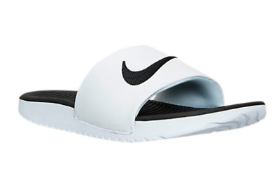 f1ce3221dd402 Nike Kawa Slide white black GS PS Kids Youth 819352 100 Fast Shipping KO4
