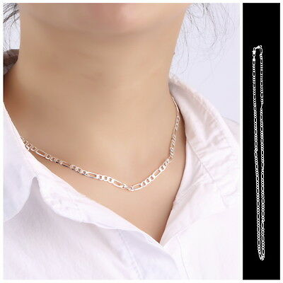 """Wholesale 4Mm Solid 925Sterling Silver Jewelry Chains 16""""-30"""" Necklace Xmas En"""
