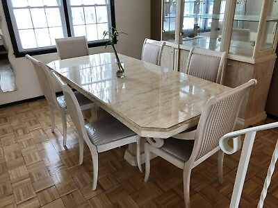 Dining room set with China cabinet & 3 Mirrors.