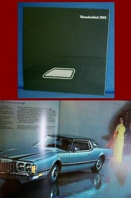 1973 Ford THUNDERBIRD Prestige Color Sales Brochure - NEW OLD STOCK