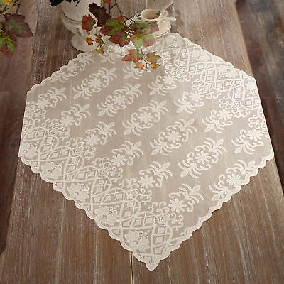 Centrotavola Pizzo Poliestere Shabby chic Poly-Vent Collection Colore Avorio
