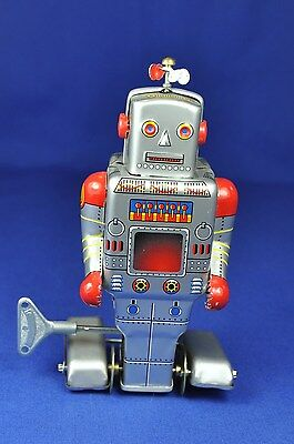 Blech / Tin: MS 278 Roboter / Robot, mit Aufziehwerk / Wind-up Toy, 1980, China