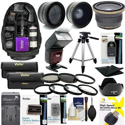 "Nikon D7200 Dslr Camera Full 67Mm Accessory Kit Lenses Flash 60"" Tripod Backpack"