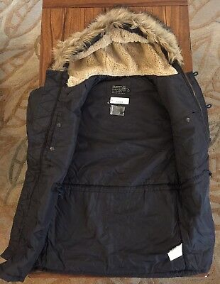 NEW $398 Jcrew Mens M Snorkel Jacket Vintage Navy Blue 05671 Winter Parka Medium