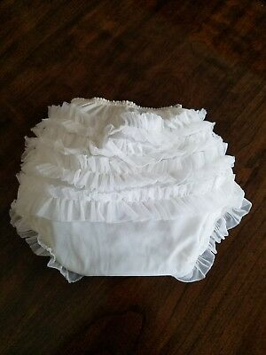 Vintage Baby Vinyl/Rubber Pants Ruffled  Diaper Cover 1950's Collector/Doll/Baby