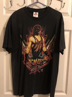 WWF/WWE Kane Out Of The Fire T Shirt Large