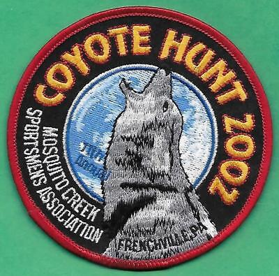 Pa Pennsylvania Game Fish Commission NEW Mosquito Creek 2002 Coyote Hunt Patch