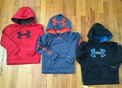 Under Armour Boys Youth Extra Small  XS Hoodie Sweatshirt Lot Storm Loose Fit