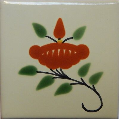 Mexican Tile Talavera Tiles High-Quality Hand Painted Flower Tile T-31