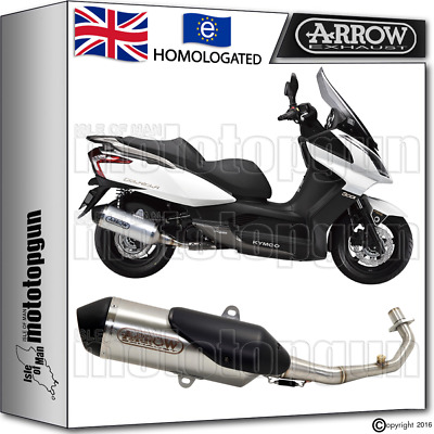Arrow Full Exhaust System Urban Stainless Steel Hom Kymco Downtown 125 2016 16