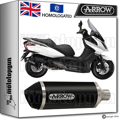 Arrow Silencer Urban Aluminium Dark Hom Kymco Downtown 125 2011 11 2012 12