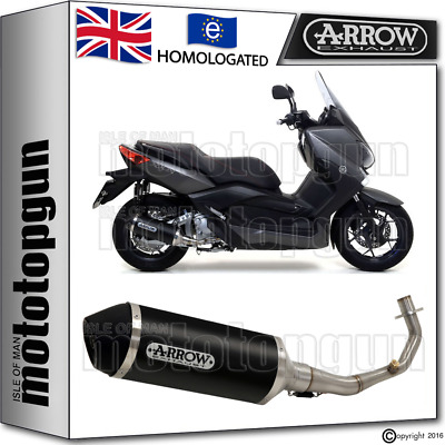 Arrow Full System Silencer Urban Aluminium Black Kat Yamaha Xmax 250 2011 11