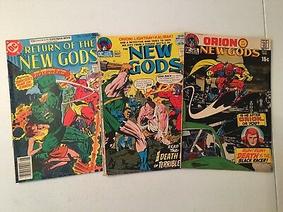New Gods Comics Lot! #3,8,13! Dc! 1971! Kirby!