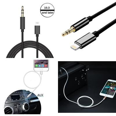 buy online af534 15ad8 MALE Aux Cord Lightning To 35mm Male To Male Audio aux For Iphone 7 ...
