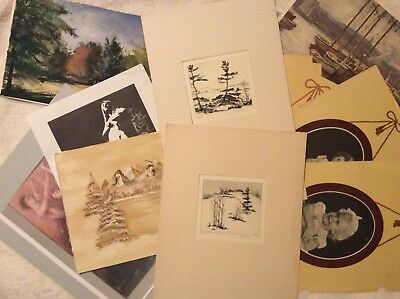 Estate Find:  Vintage Lot Etchings, Paintings, Magazine Pictures (Some Signed)
