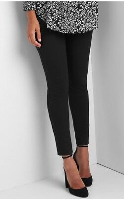 Gap Charcoal Heather Maternity full panel ponte leggings ~ NWT Small