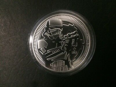 2018 $2 1oz Niue New Zealand Mint Star Wars Stormtrooper Silver Bullion coin