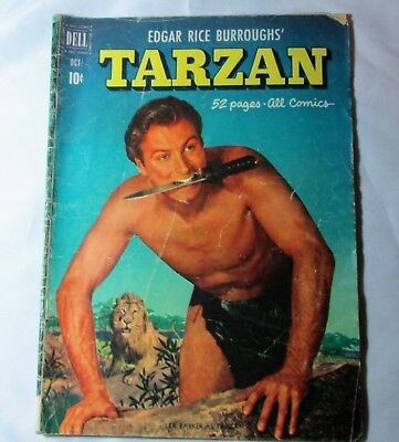 Edgar Rice Burroughs' Tarzan #25 Oct 1951 Golden Age Dell Comics  Mandril Cover