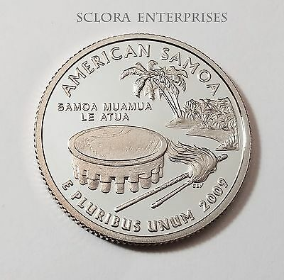 2009 S American Samoa *90% Silver Proof* Quarter   **free Shipping**