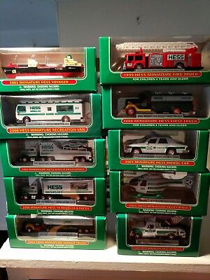 Hess miniature collection of 10 items